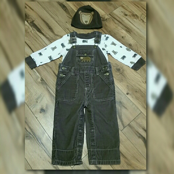 6b9351653 Gymboree Matching Sets | Outfit Bundle Corduroy Overalls Bear Hat ...